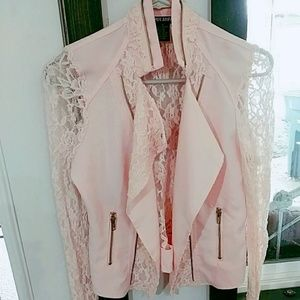 Light pink lace jacket